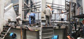 盛泽热电厂抢修三号炉引风机