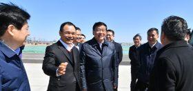 2020年3月19日,省委书记娄勤俭一行到炼化现场考察项目推进情况。