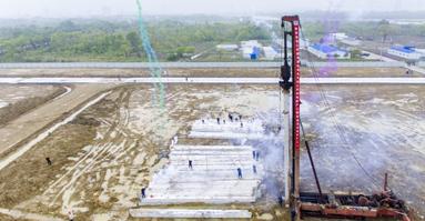 吴江盛泽2×100MW级燃机热电联产工程桩基项目顺利开工