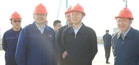 2020年4月28日,江苏省副省长马秋林一行到炼化现场参观考察。