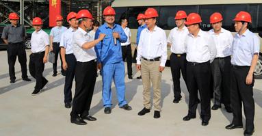 江苏省委常委、常务副省长樊金龙调研盛虹炼化建设情况